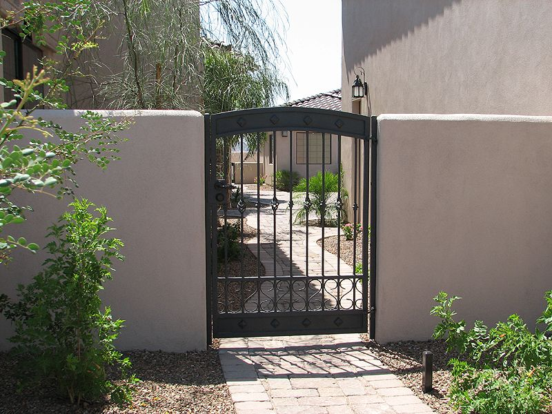 Solution For Troubled Courtyard Gates Rite A Way Az